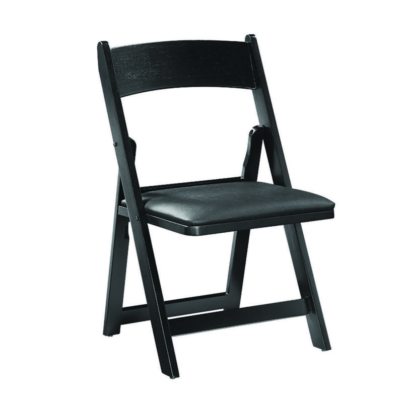 Astounding Folding Garden Chair Black Wood W Black Cushion A Finer Cjindustries Chair Design For Home Cjindustriesco